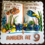 Book-themed cake