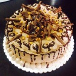 Chocolate cake with choco shavings and butterscotch2