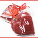 personalized heart candle